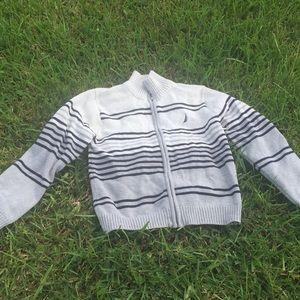 Euc Nautica grey / blue stripe   Sweater